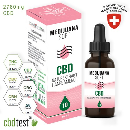 Medijuana Soft CBD olaj 10% 30ml