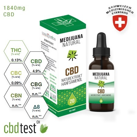 Medijuana Natural CBD olaj 20% 10ml
