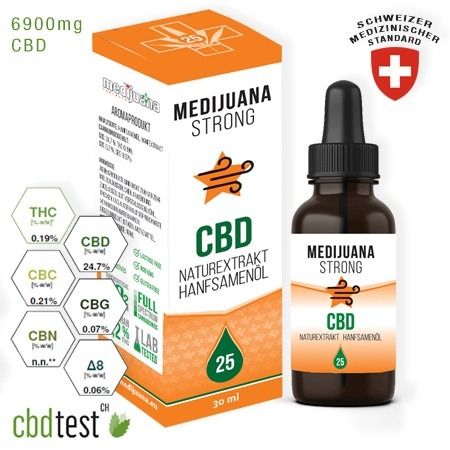 Medijuana Strong CBD olaj 25% 30ml